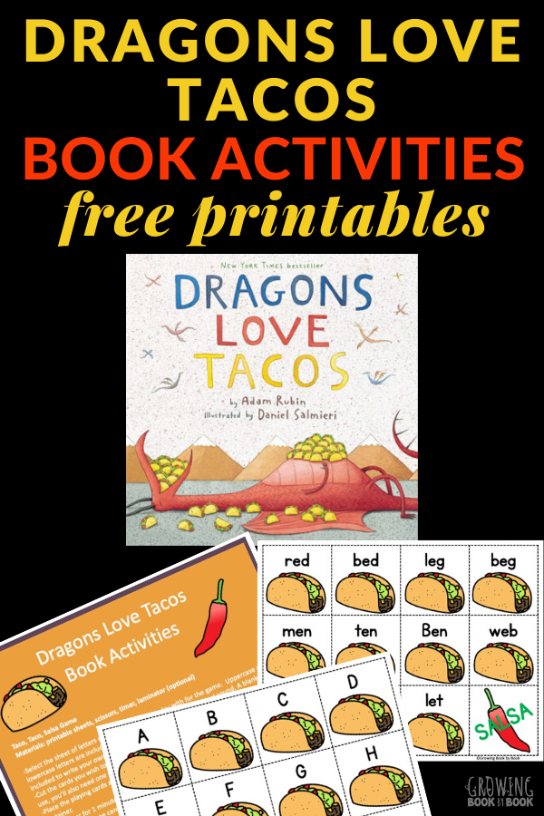 book activities for Dragons Love Tacos