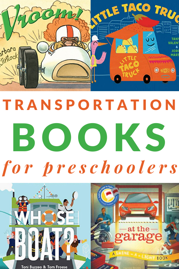 preschool books about trucks, cars, and things that go