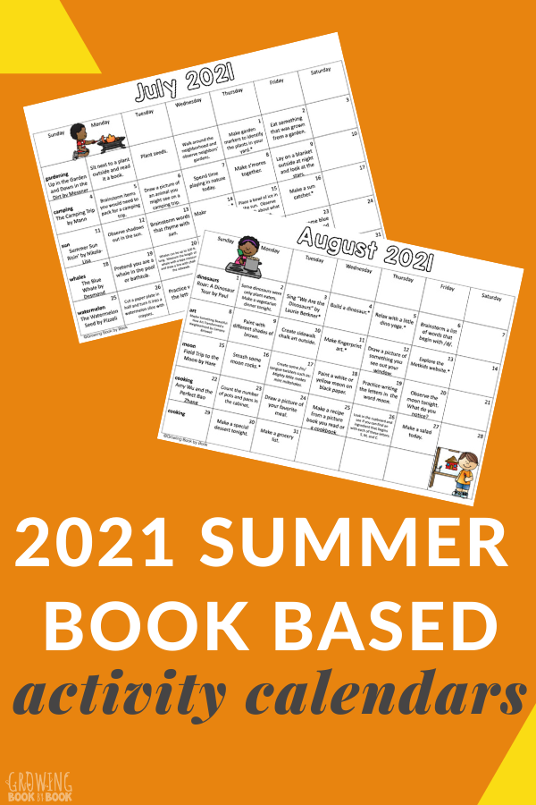 summer literacy activities for kids