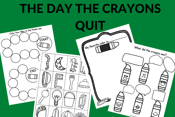 activities to go with The Day the Crayons Quit