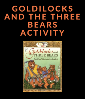 goldilocks book activity