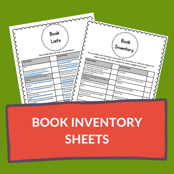 book inventory sheet printables