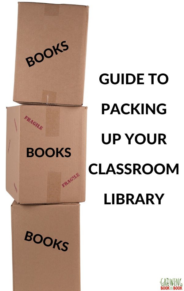 how top pack up your classroom books