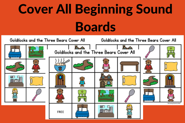 game boards for Goldilocks and the Three Bears