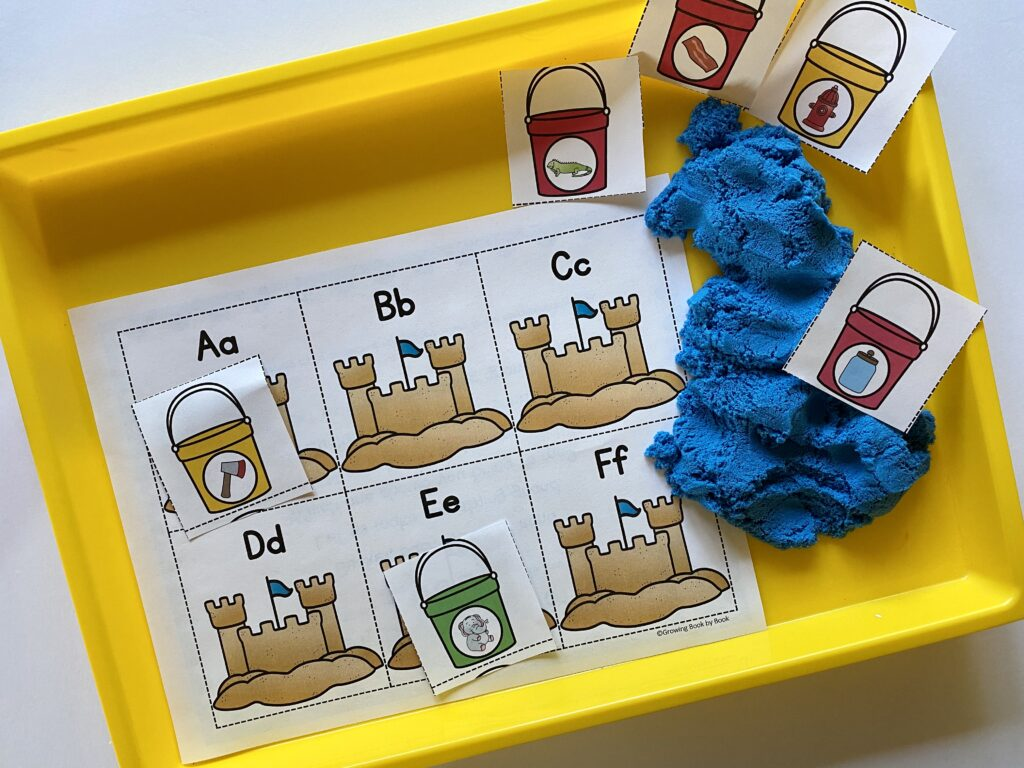 LETTER AND SOUND MATCHING ACTIVITY WITH SAND THEME