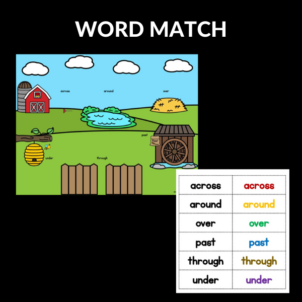 POSITIONAL WORD MATCH ACTIVITY