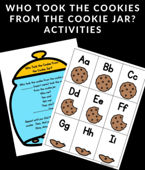 activities for Who Took the Cookies From the Cookie Jar?