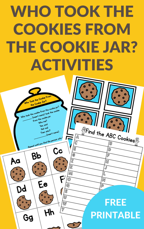 activities to go with Who Took the Cookies From the Cookie Jar?