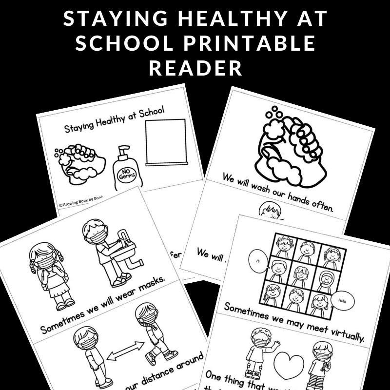printable staying healthy book for kids