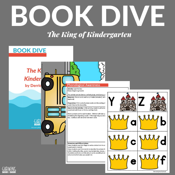 the king of kindergarten book activities