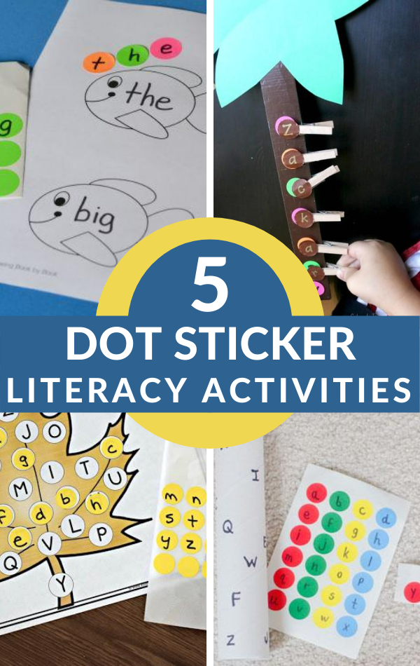 literacy activities that use dot stickers