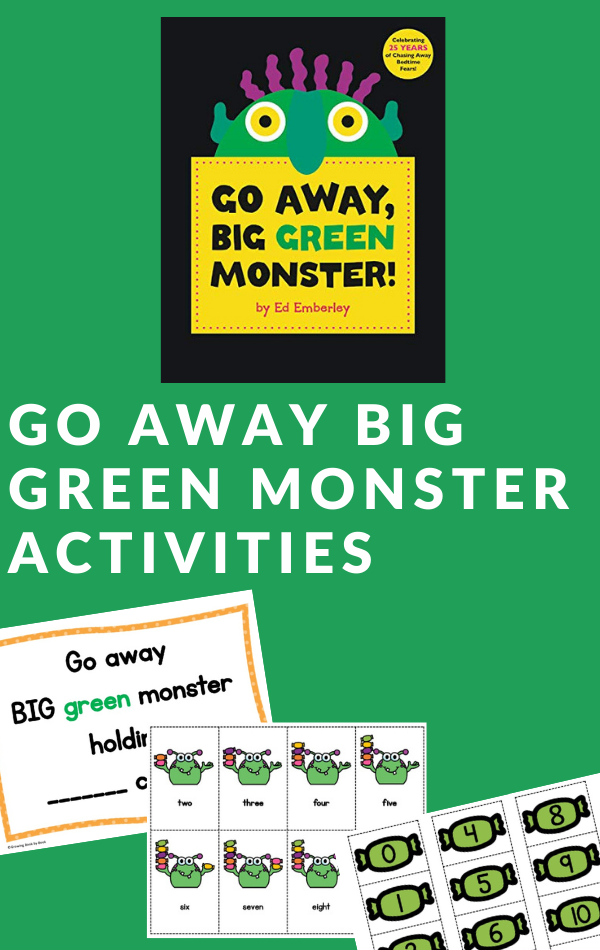 activities to use with the book, Go Away Big Green Monster by Ed Emberly