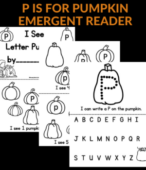 p is for pumpkin emergent reader