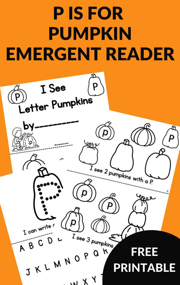 printable emergent reader about pumpkins and the letter p
