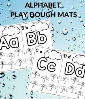 play dough mats for abc practice