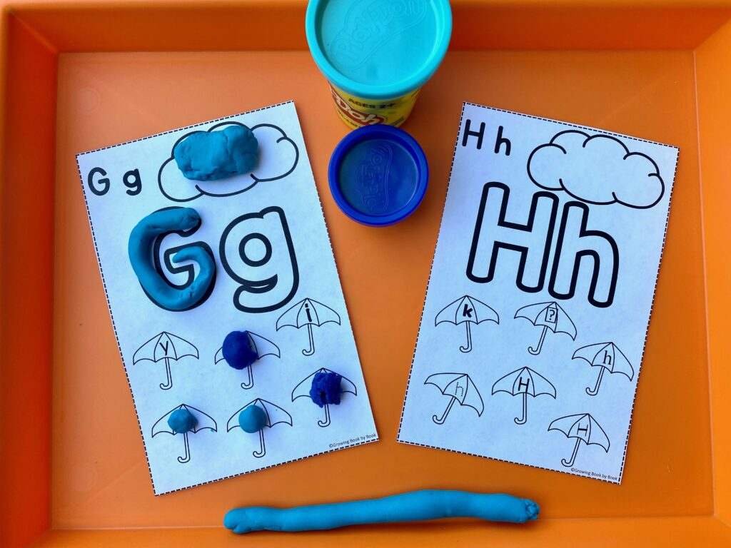 play dough mat for alphabet work