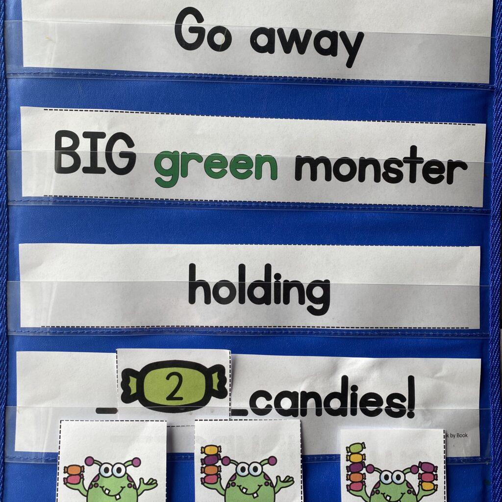 Go Away Big Green Monster Pocket Chart Activity
