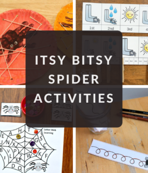ACTIVITIES TO DO WITH THE ITSY BITSY SPIDER SONG