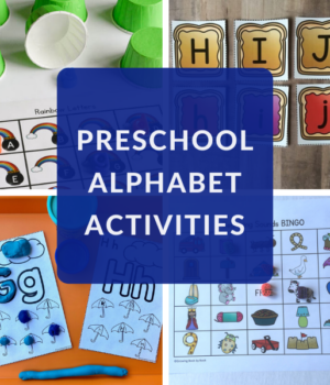 preschool hands on activities for the alphabet