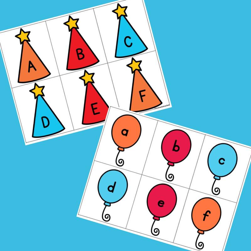 alphabet memory game sheets