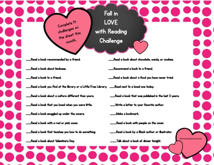 valentine's day reading challenge