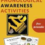 phonological awareness activity for Diggersaurus