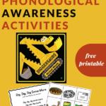 phonological awareness activity for Diggersaurus