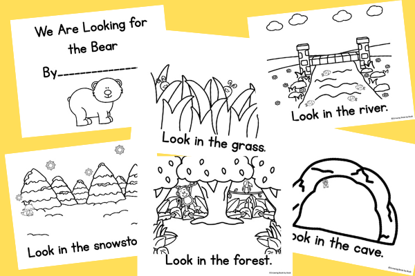 literacy activity for We're Going on A Bear Hunt