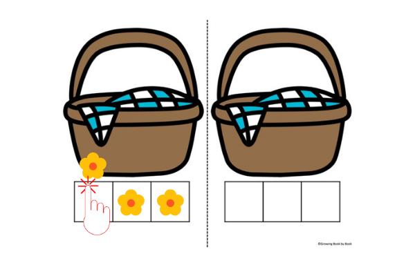 elkonin box with basket