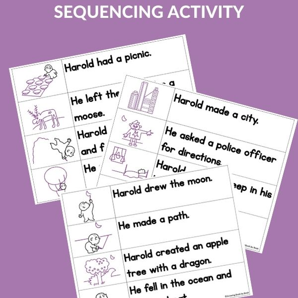 SEQUENCING ACTIVITY FOR HAROLD AND THE PURPLE CRAYON